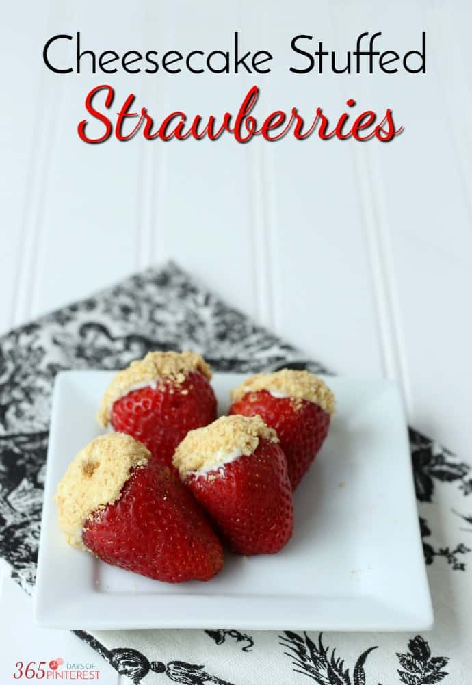 With only 5 ingredients, these cheesecake stuffed strawberries are a perfect dessert or party snack! strawberries | valentine's day | snack via @nmburk