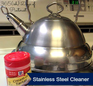 Day 48: Clean Stainless Steel with Cream of Tartar