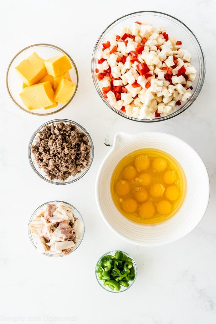 ingredients for slow cooker breakfast burritos