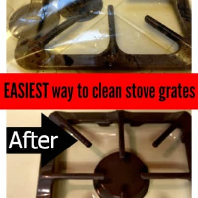Day 33: How to Clean Your Stove Grates