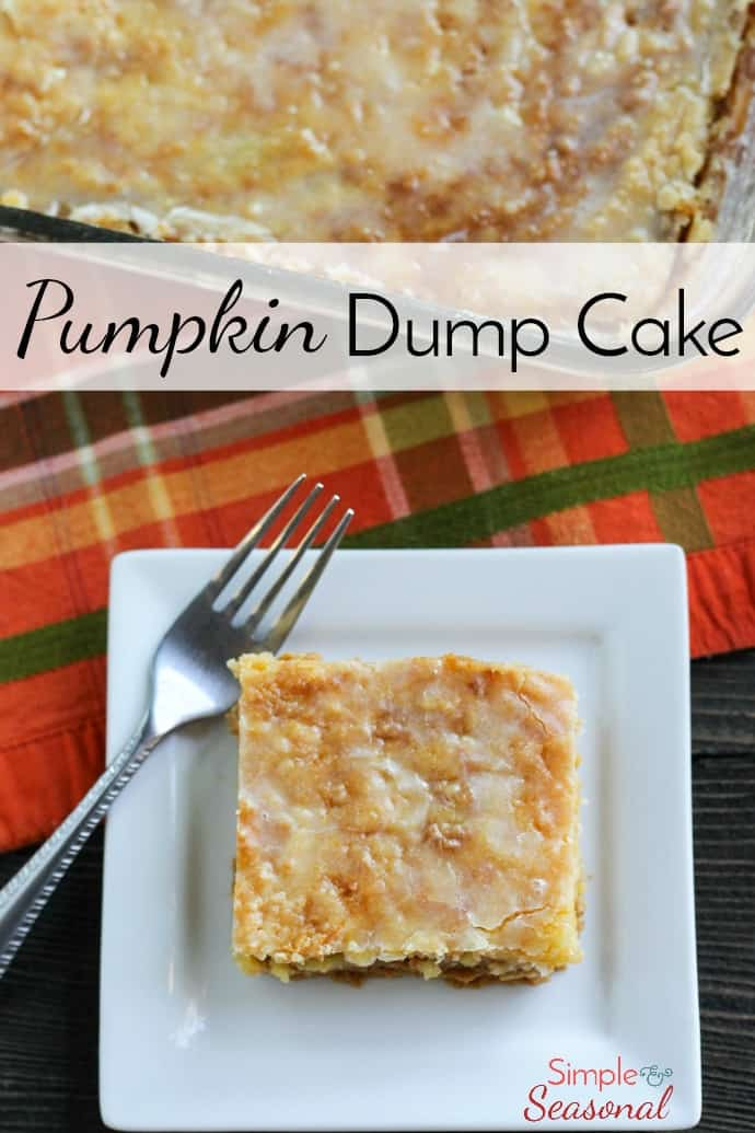 Putting the name aside, Pumpkin Dump Cake is a delicious twist on pumpkin pie that's perfect for fall! It's a cake on top of a pumpkin pie without the hassle of a pie crust!  via @nmburk