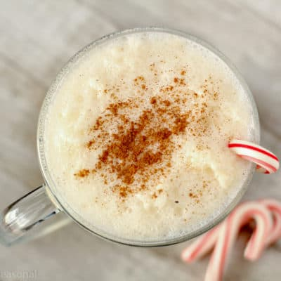 Enjoy this creamy and family-friendly Eggnog Punch during the holidays this season! It's perfect for office or classroom parties.