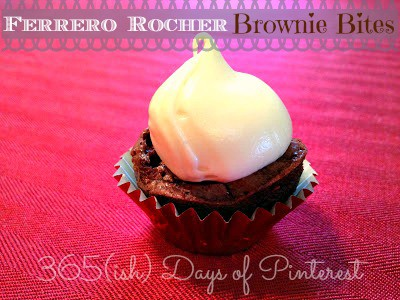 Day 240: Ferrero Rocher Brownie Bites with Caramel Icing