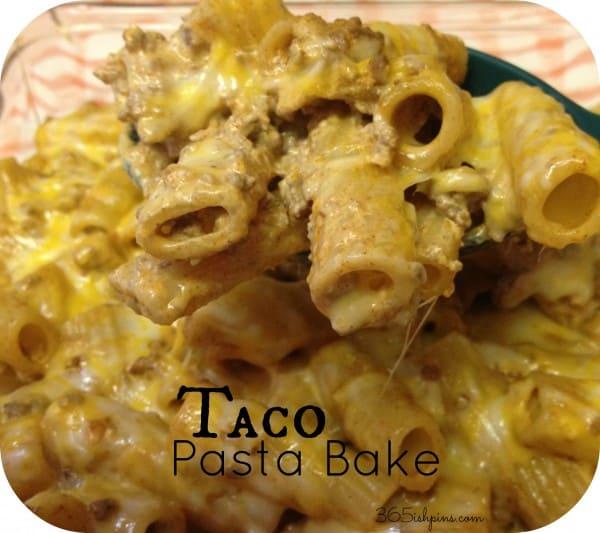Day 266: Taco Pasta Bake - 365ish Days of Pinterest