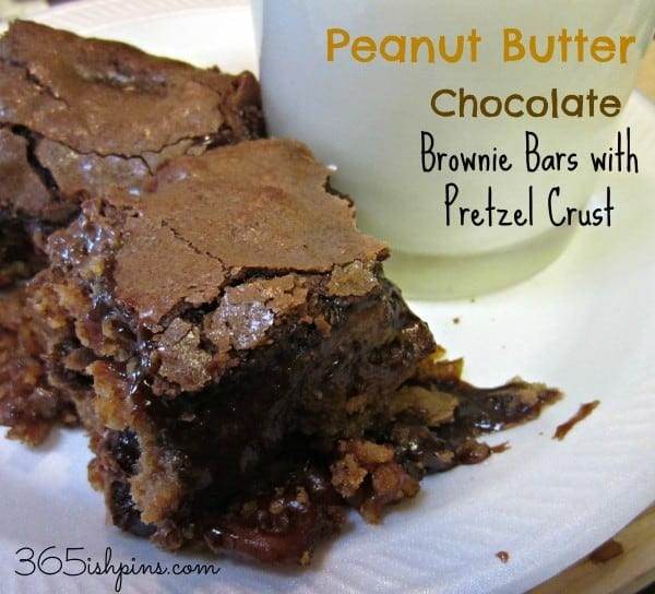 Day 322: Peanut Butter Chocolate Brownie Bars with Pretzel Crust ...