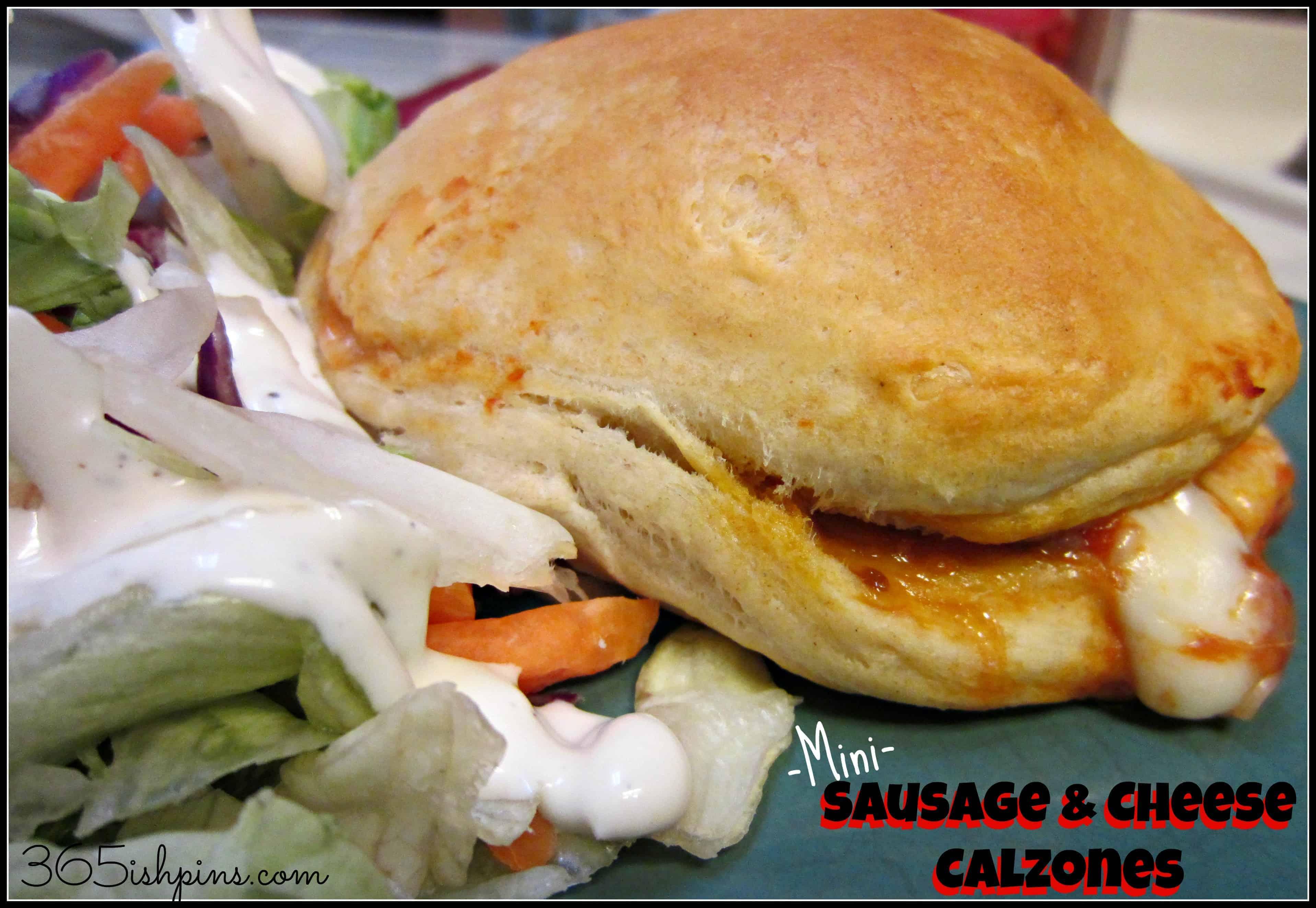 Day 326: Mini Sausage & Cheese Calzones - 365ish Days of Pinterest