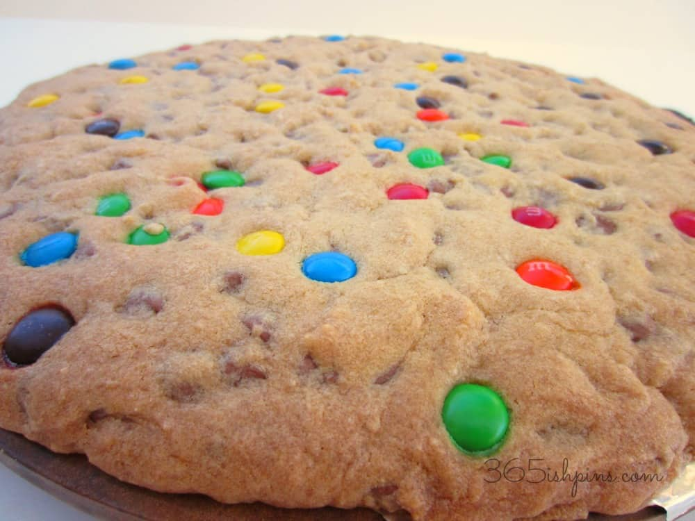 Day 300: Perfect Giant Cookie Cake - 365ish Days of Pinterest