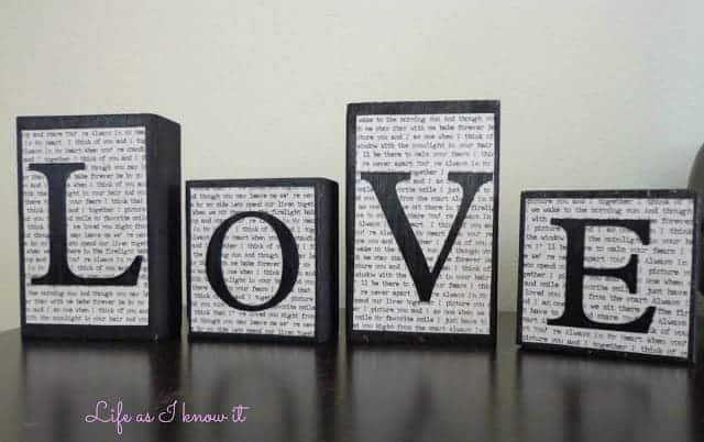 """Guest Post: DIY """"Love"""" Blocks"""