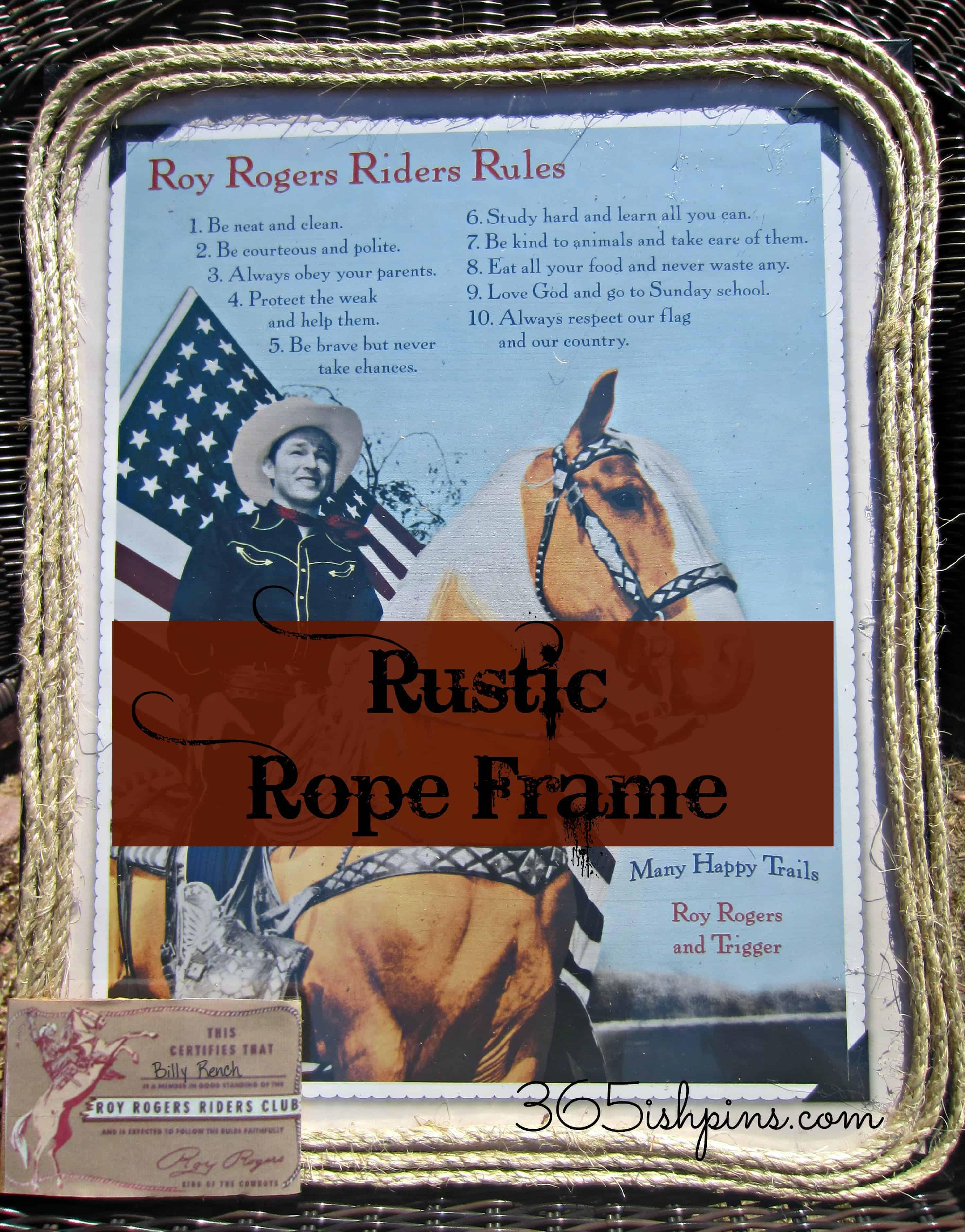 rope frame rustic