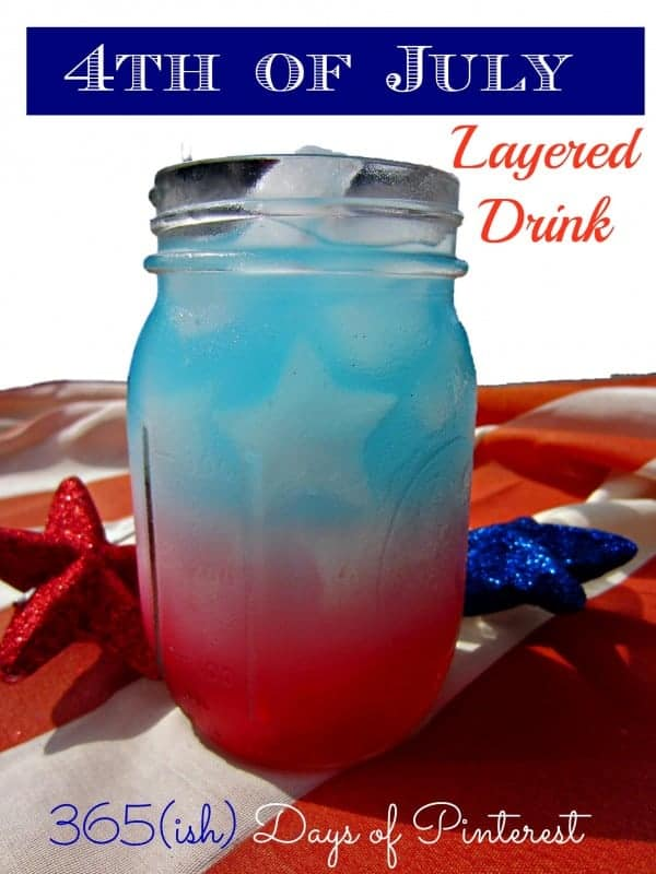 Vol. 2, Day 10: Layered Drink for 4th of July