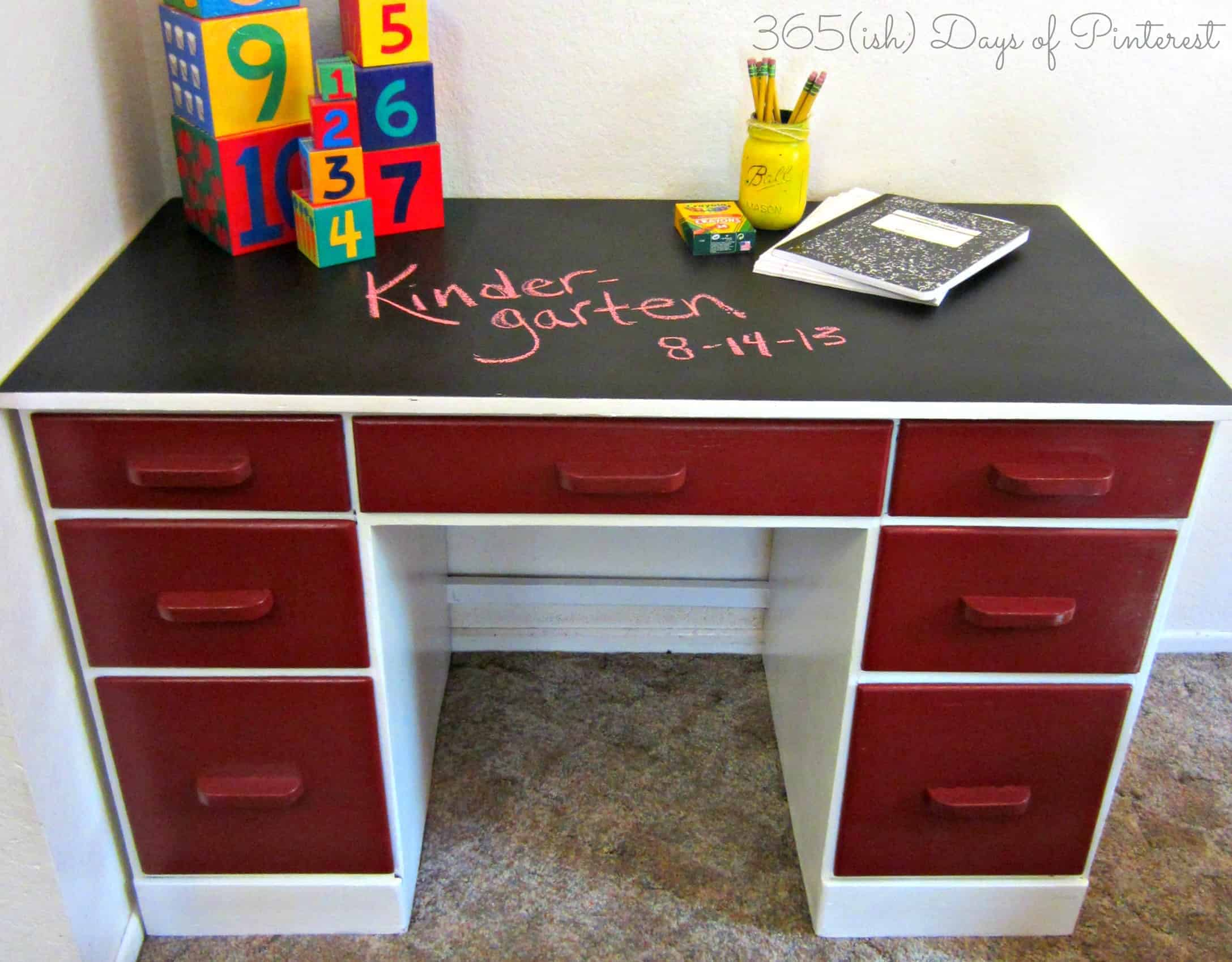 Desk After- chalkboard top