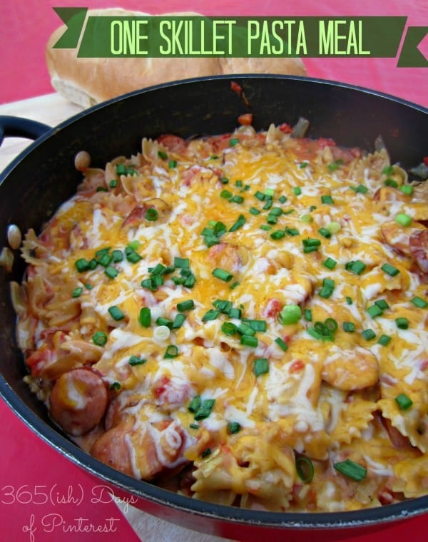 one skillet pasta meal
