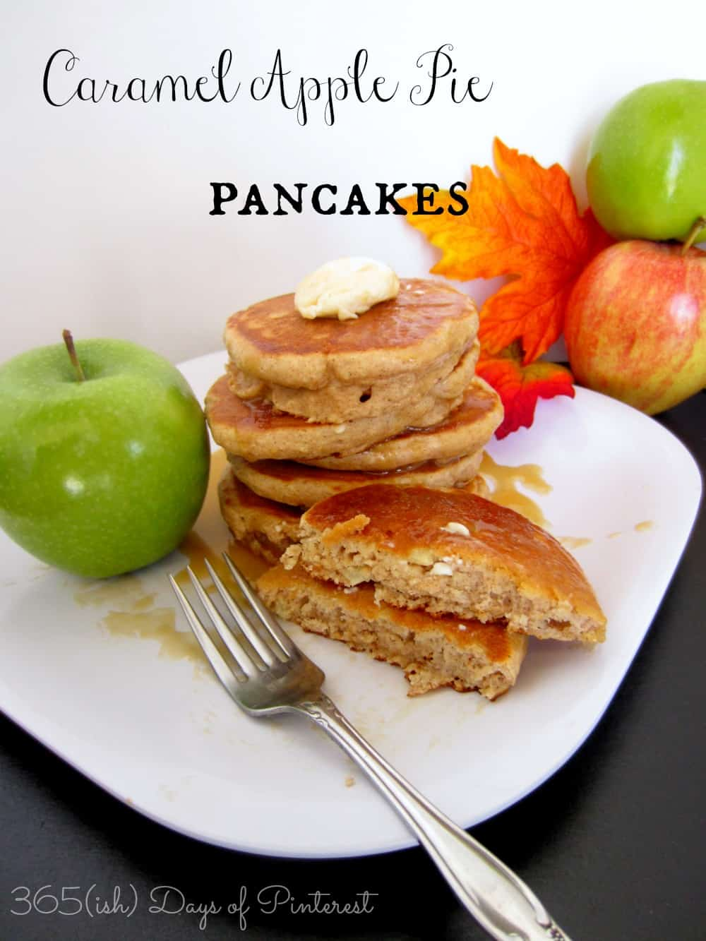 caramel apple pie pancakes