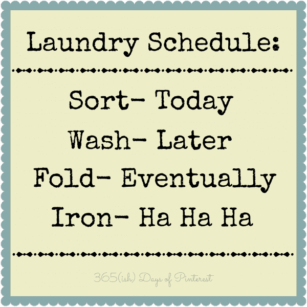 Laundry Schedule | 365ishpins.com