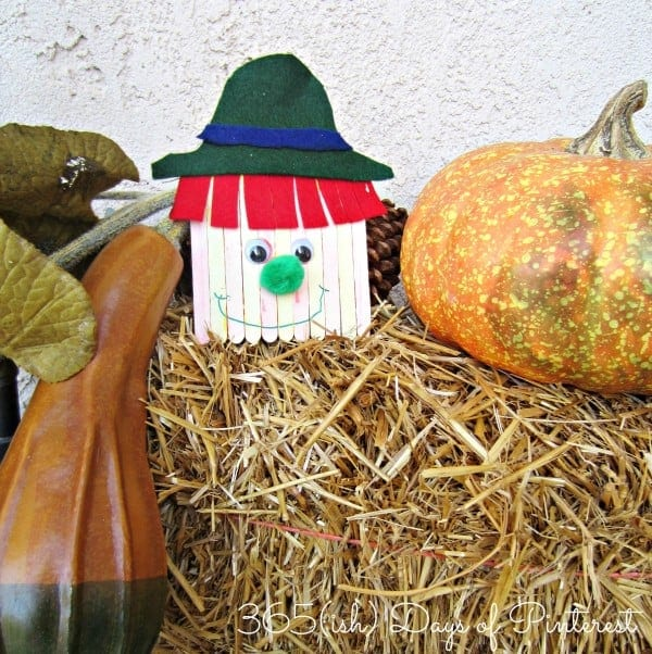 scarecrow craft outside