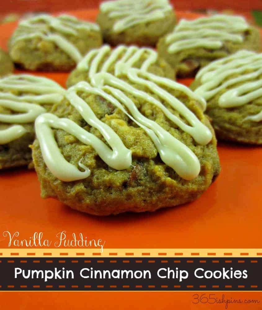 pumpkin cinnamon chip pudding cookies