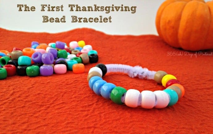 Thanksgiving story bead bracelet