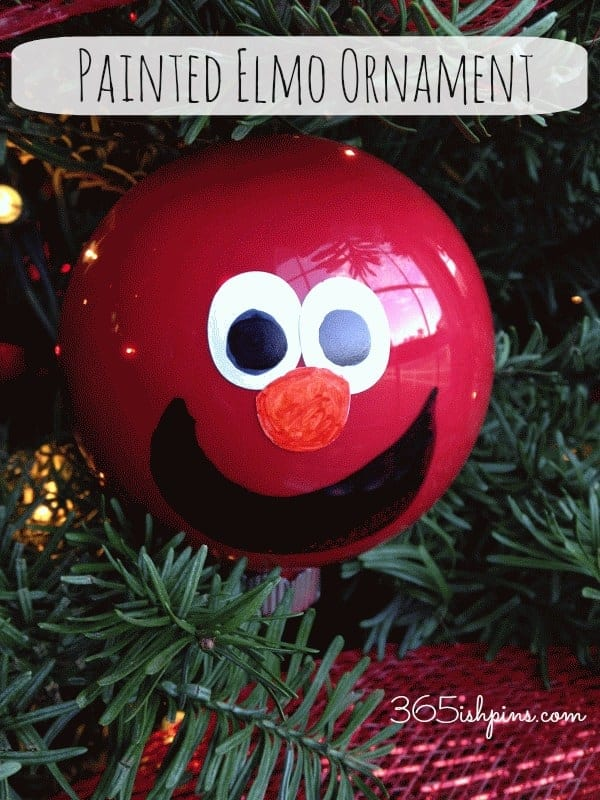 DIY painted ornaments- Elmo