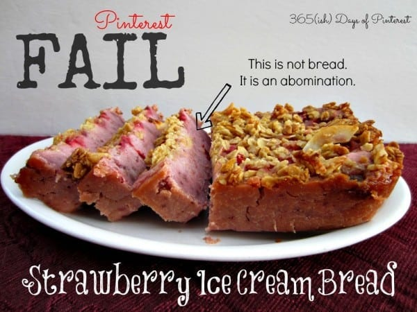 strawberry ice cream bread