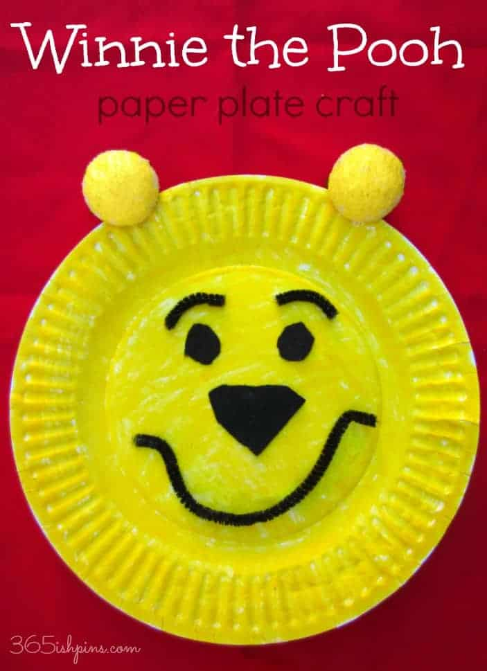 Winnie the Pooh paper plate craft- National Winnie the Pooh Day