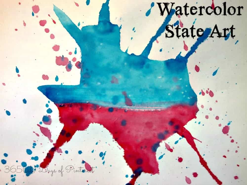 watercolor Texas state art