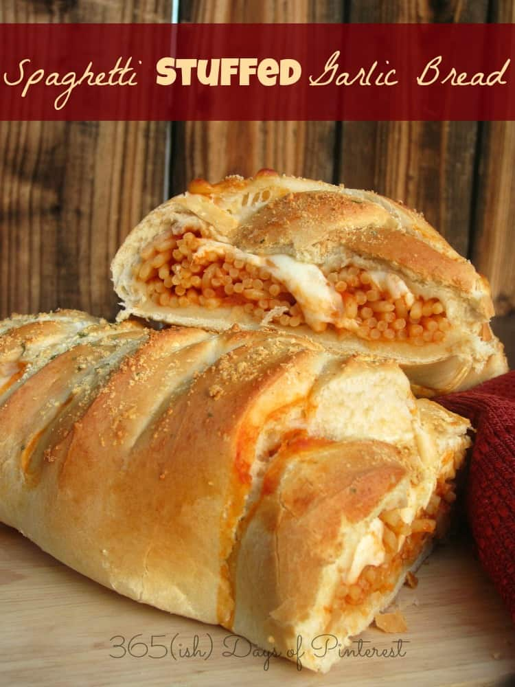 ... like this spaghetti stuffed garlic bread, you might also like this