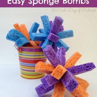 Sponge Bombs-Easy Summer Activity for Kids