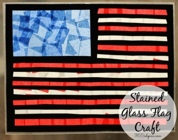 stained glass flag craft