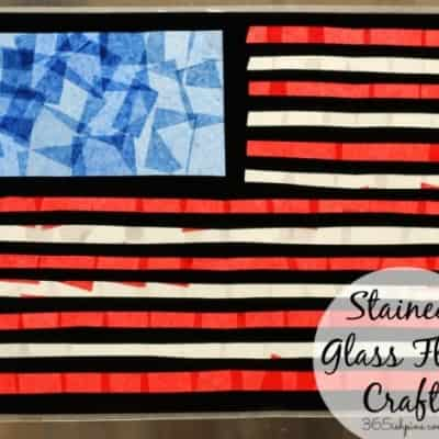 Stained Glass Flag Craft-Summer Fun Series