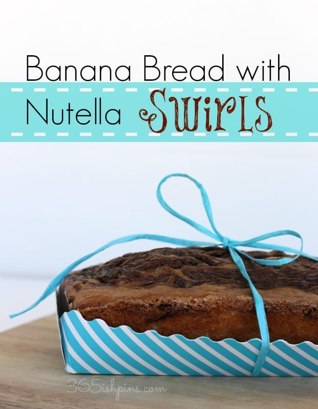 banana bread with nutella
