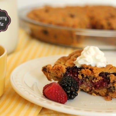 Double Berry Cookie Pie
