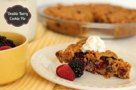 Double Berry Cookie Pie