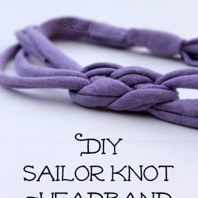 DIY sailor knot headband