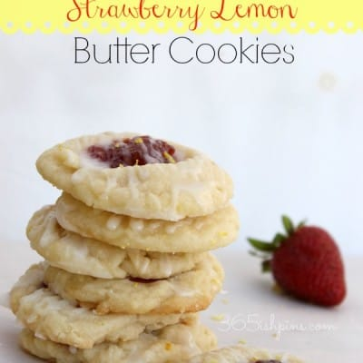 strawberry lemon butter cookies