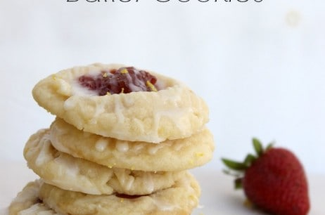 Strawberry Lemon Butter Cookies and Doctor Who