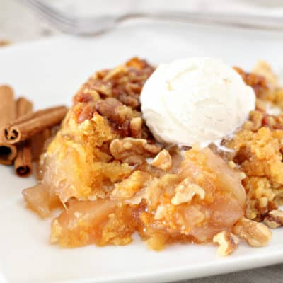 Crockpot Apple Cinnamon Dump Cake