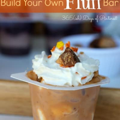 Build Your Own Fluff Bar with Snack Pack Pudding Cups