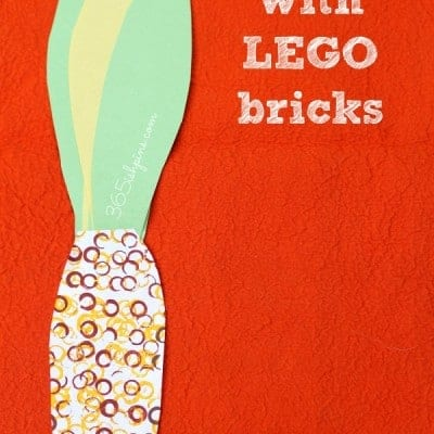 LEGO Stamping Fall Craft