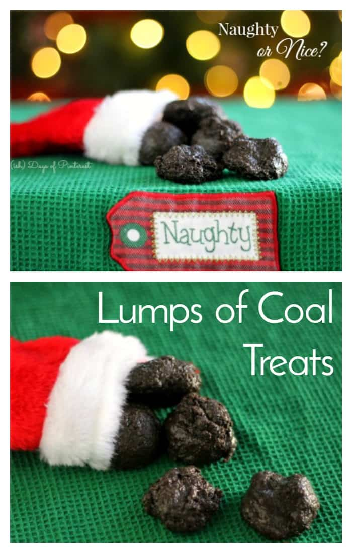 """Give something special to the """"naughty"""" people in your family with these delicious Lumps of Coal marshmallows!  via @nmburk"""