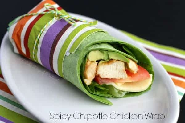 Spicy Chipotle Chicken Wraps #EatHealthy15