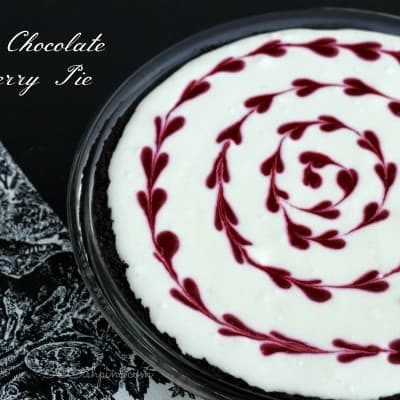 White Chocolate Raspberry Pie