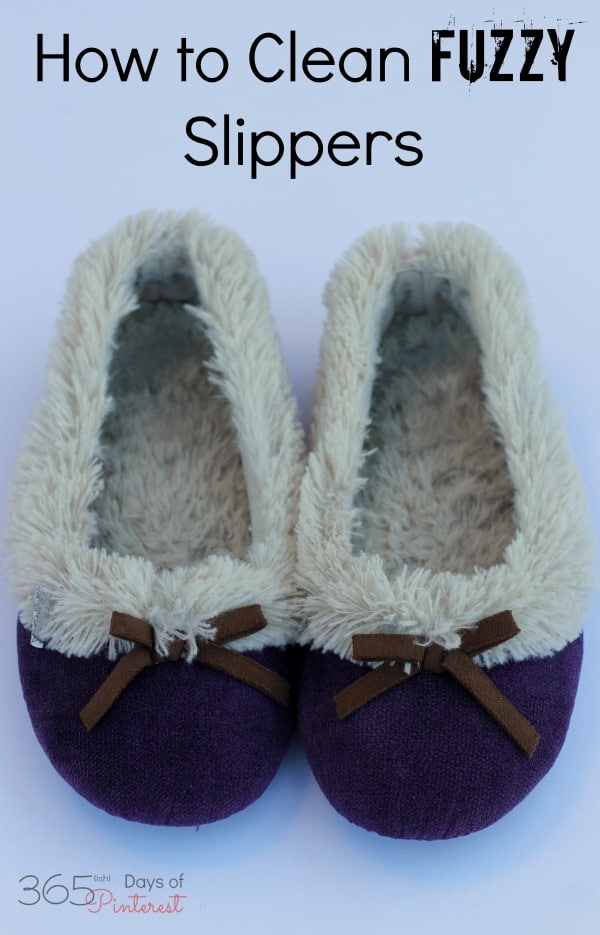 Have you ever wondered how to clean your fuzzy slippers with rubber soles without ruining them? It's actually really easy and doesn't take too long! This is the answer for how to clean slippers without using the washing machine. via @nmburk