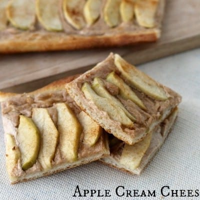 Apple Cream Cheese Pizza