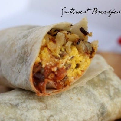 southwest breakfast burrito