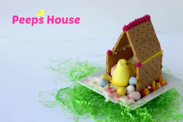 Easter peeps house activity for kids