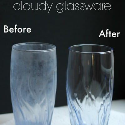How to Shine Cloudy Glassware
