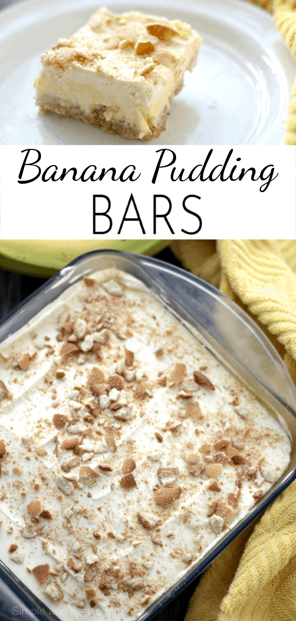 Pudding, bananas and wafer cookies create delicious layers of creamy goodness in these simple Banana Pudding Bars  via @nmburk