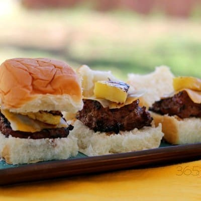 Grilled Hawaiian Turkey Sliders