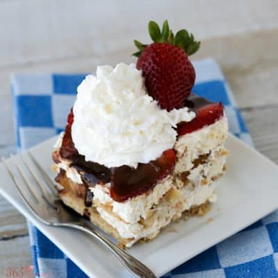 Banana Split Icebox Cake