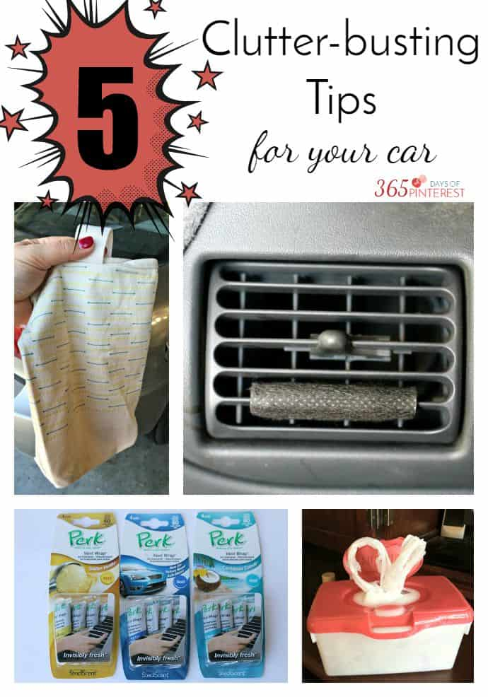 clutter busting tips for the car